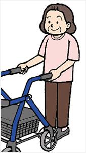 歩行補助車は安定性のあるものを選びましょう