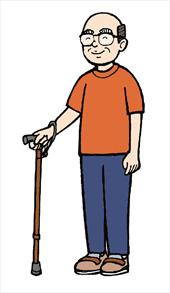 ステッキは身長に合った長さで使用することが大切